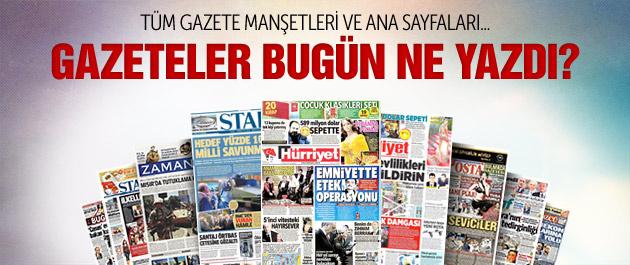 Gazete manşetleri 6 Mayıs 2015
