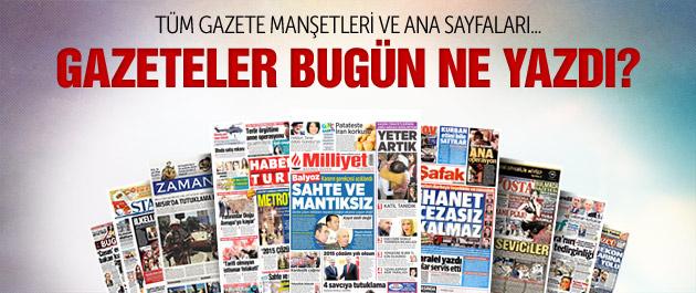 Gazete manşetleri 7 Mayıs 2015