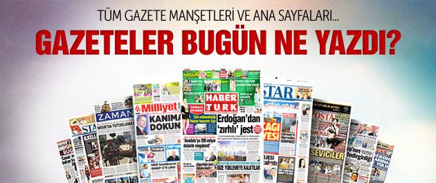 Gazete manşetleri 22 mayıs 2015