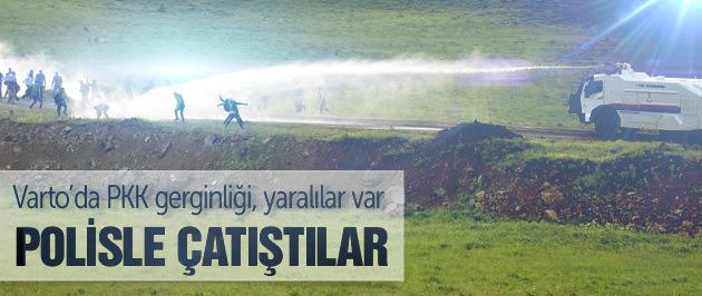 Muş'ta PKK cenazesinde olaylar çıktı