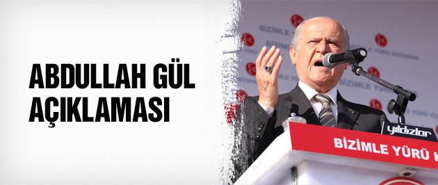 Bahçeli'den Kayseri'de Abdullah Gül açıklaması