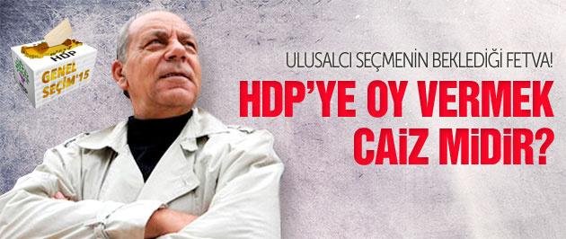 Bekir Coşkun'dan ulusalcı seçmene HDP fetvası!