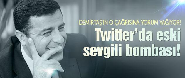 Twitter'da Demirtaş ve eski sevgili bombası!