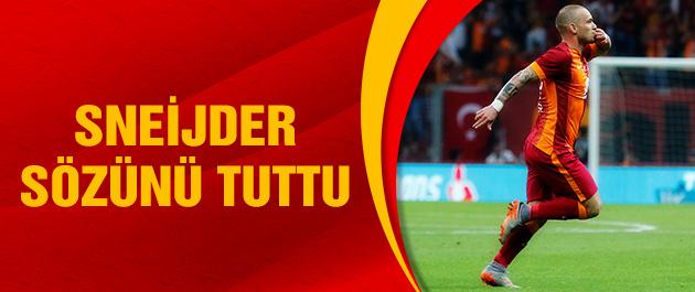 Sneijder'den bir ilk!