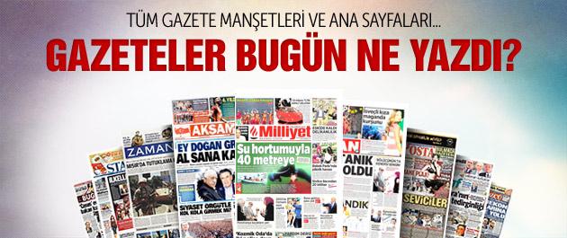 Gazete manşetleri 25 Mayıs 2015