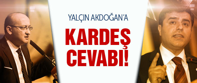 Demirtaş'tan Akdoğan'a dağdaki kardeş cevabı!
