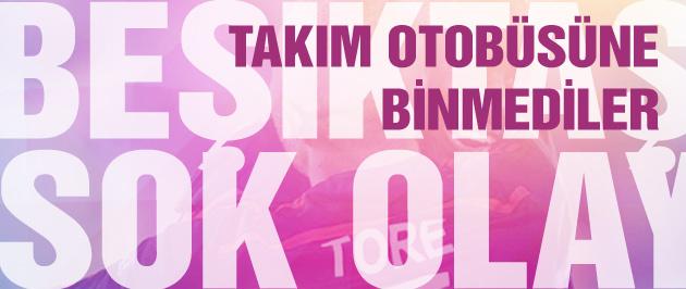 Beşiktaş'ta şok! Otobüse bile binmediler