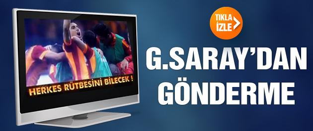 Fenerbahçe'ye klipli gönderme