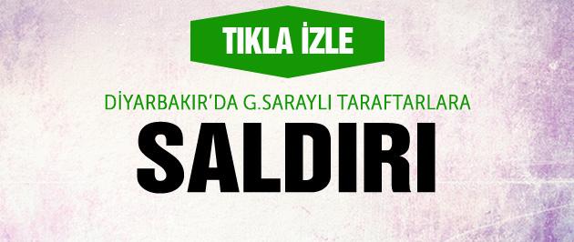 Galatasaraylı taraftarlara saldırı