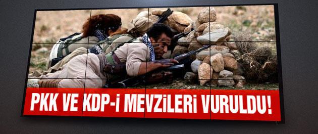PKK ve KDP-İ mevzilerine ağır bombardıman!