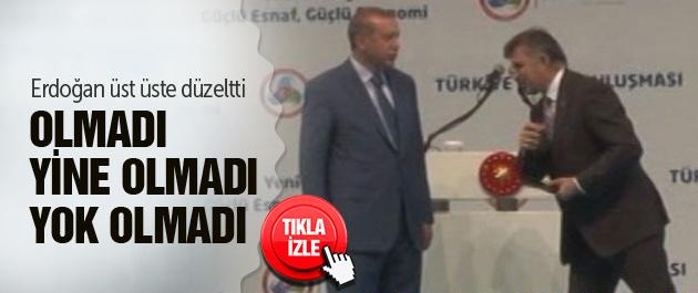 Erdoğan sunucuyu 3 kez uyardı!