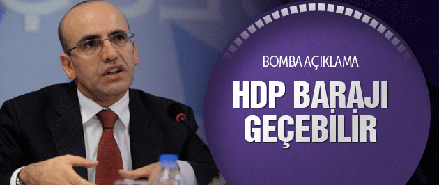 Mehmet Şimşek'ten çarpıcı HDP açıklaması