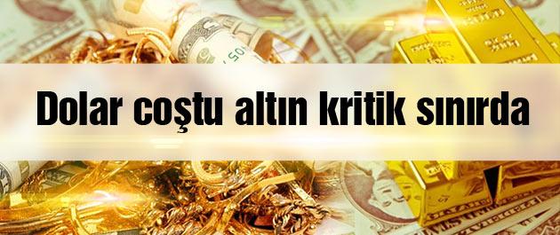 Dolar kuru coştu altın fiyatları kritik eşiğe indi