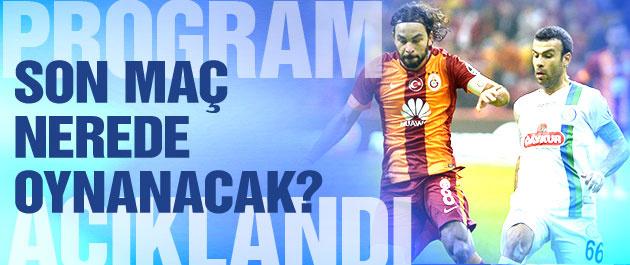 Rizespor Galatasaray maçı nerede oynanacak?