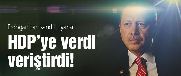 Erdoğan'dan HDP'ye terör suçlaması!
