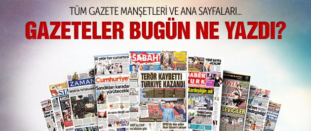Gazete manşetleri 27 Mayıs 2015
