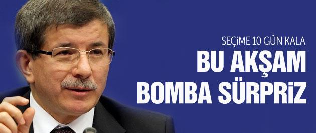 Davutoğlu'ndan bu akşam bomba seçim sürprizi