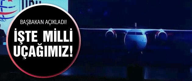 İşte Türkiye'nin milli uçağı Başbakan Davutoğlu açıkladı