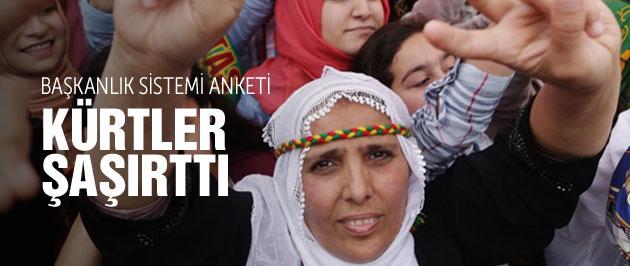 Başkanlık sistemi anket sonucu Kürtler şaşırttı!