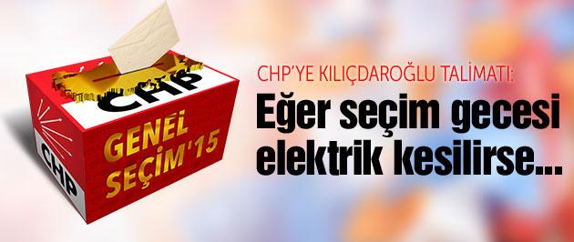 Kılıçdaroğlu'ndan CHP'ye sandık ve elektrik talimatı!