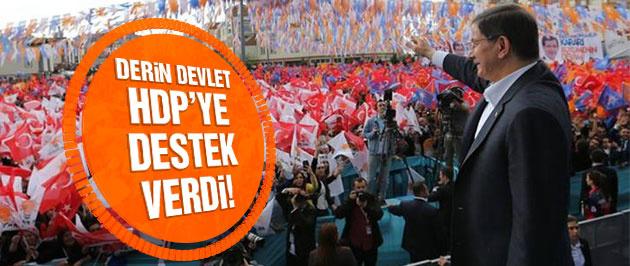 Davutoğlu'ndan HDP'ye derin devlet suçlaması!
