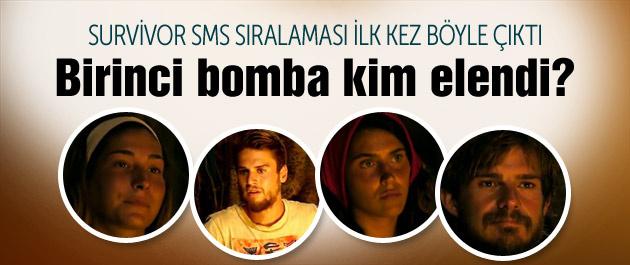 Survivor kim elendi ünlüler SMS sıralaması sonuçları?
