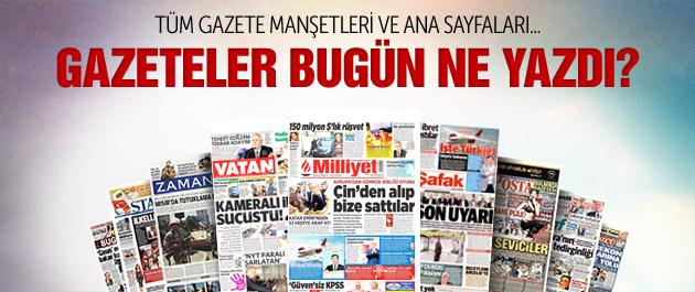 Gazete manşetleri 28 mayıs 2015