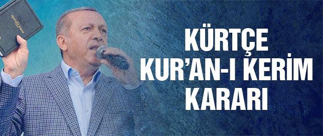 Diyanet'ten Kürtçe Kur'an-ı Kerim kararı