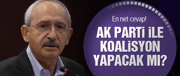Kılıçdaroğlu açıkladı AK Parti ile koalisyon yapacak mı?
