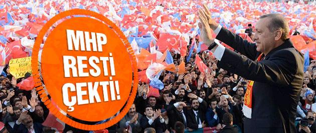 MHP'den Erdoğan'a rest! Gitmeyecekler