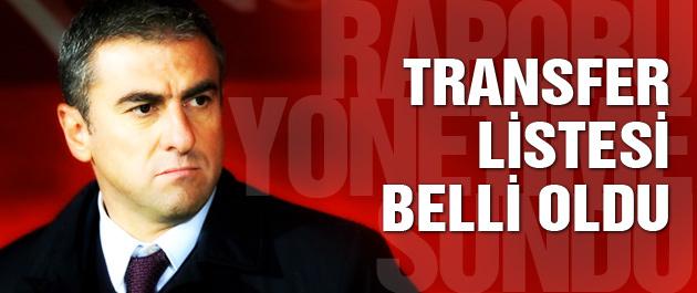İşte Hamzaoğlu'nun transfer listesi