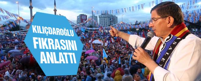 Davutoğlu Kayseri'de CHP'ye yüklendi