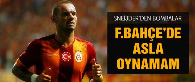 Sneijder'den Fenerbahçe yorumu
