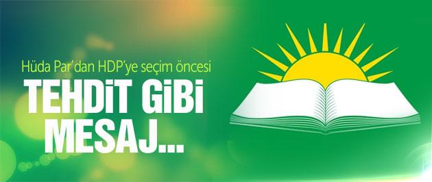 Hüda Par'dan HDP'ye tehdit gibi mesaj