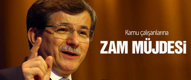 Davutoğlu'ndan kamu çalışanlarına zam müjdesi