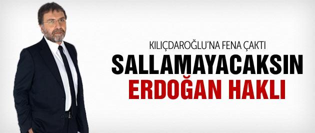 Ahmet Hakan Kılıçdaroğlu'na çaktı Erdoğan haklı!