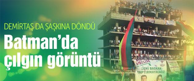 HDP Batman mitinginden çılgın görüntü
