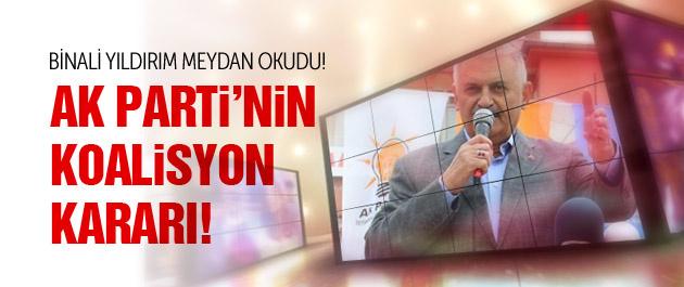 Binali Yıldırım açıkladı! AK Parti'nin koalisyon kararı!