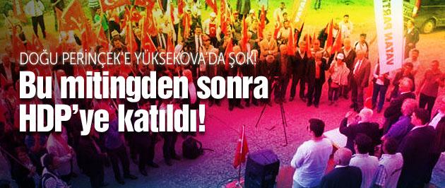 Mitinge 100 kişi gelince HDP'ye katıldı!