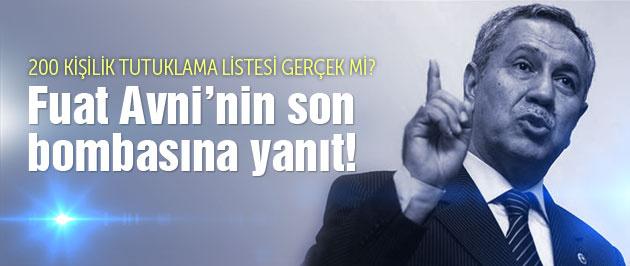Arınç'tan Fuat Avni'nin iddiasına cevap!