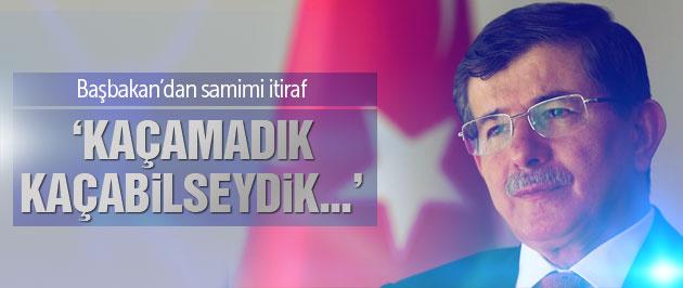 Başbakan Davutoğlu'ndan gençlere samimi itiraf