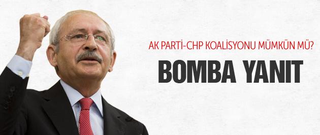 Kılıçdaroğlu'ndan AK Parti-CHP koalisyonu açıklaması