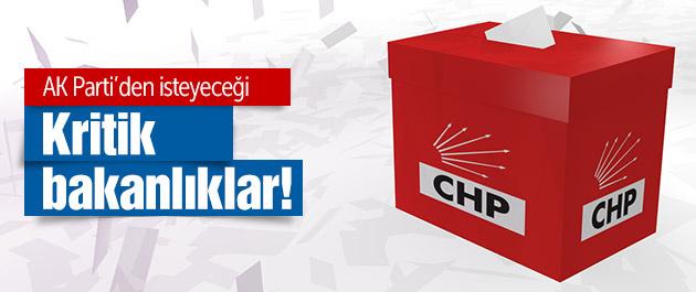 İşte CHP'nin AK Parti'den istediği kritik bakanlıklar!