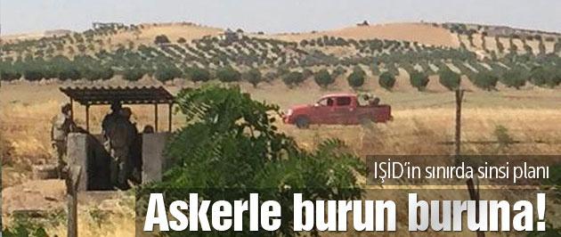 IŞİD mayın döşedi askerle burun buruna!