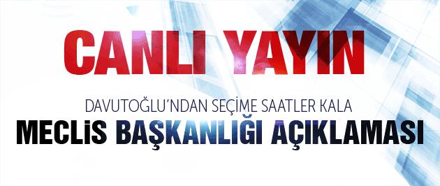 Davutoğlu'ndan çok sert Meclis Başkanlığı açıklaması