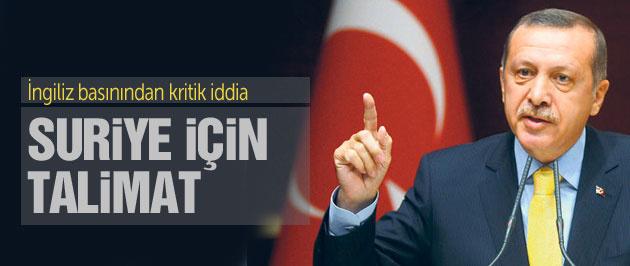 'Erdoğan Suriye için askere talimat verdi' iddiası