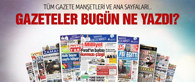 Gazete manşetleri 1 Temmuz 2015