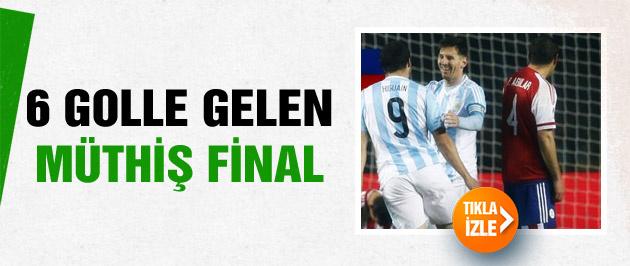 Paraguay'ı farklı yenen Arjantin finale çıktı
