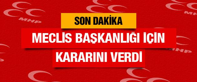 Bahçeli'den son dakika Meclis Başkanlığı seçimi kararı