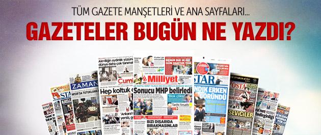 Gazete manşetleri 2 Temmuz 2015